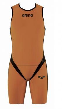 Arena Carbon pro rear zip mouwloos trisuit oranje heren