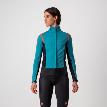 Castelli Alpha RoS 2 fietsjack lange mouw blauw dames