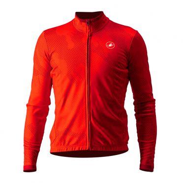 Castelli Pericolo lange mouw fietsshirt rood heren