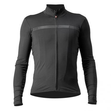 Castelli Pro thermal Mid lange mouw fietsshirt donkergrijs heren