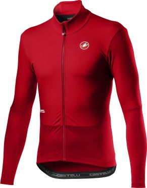 Castelli Nano mid wind fietsshirt lange mouw rood heren