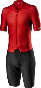 Castelli Sanremo 4.1 speed suit korte mouw zwart/rood heren