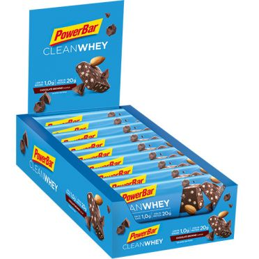 Powerbar Clean whey bar chocolade brownie 18 x 60 gram