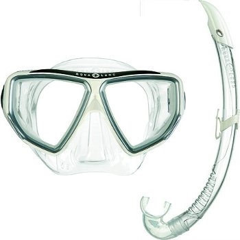 Aqua Lung Sport Oyster LX + Airflex LX Snorkelset wit