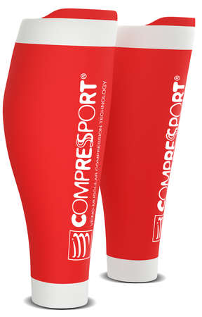 Compressport R2 v2 compressie tubes rood