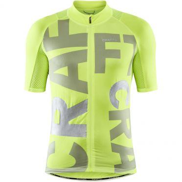 Craft Advanced Endurance Lumen fietsshirt SS geel heren