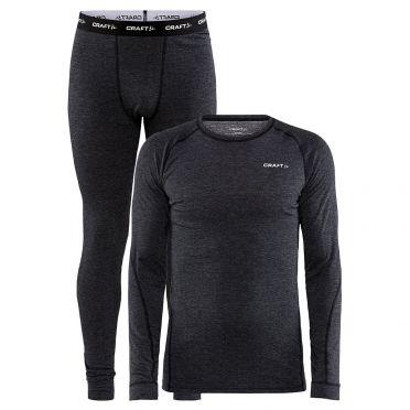Craft Cool Merino onderkleding set zwart heren
