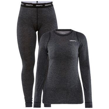 Craft Cool Merino onderkleding set zwart dames