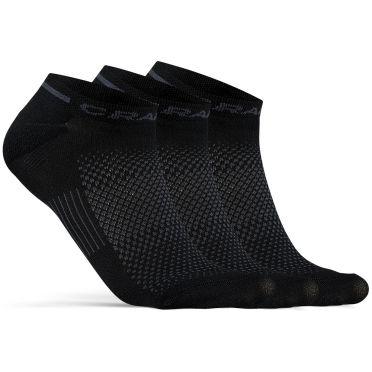 Craft Advanced Dry mid Shaftless Sokken zwart 3-pack