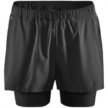 Craft Advanced Essence 2-in-1 stretch short zwart heren