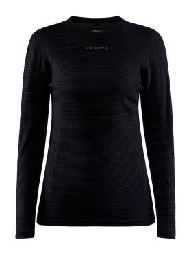 Craft Pro Wool Extreme X lange mouw ondershirt zwart dames