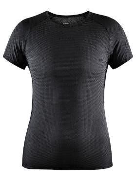 Craft Pro Dry Nanoweight korte mouw ondershirt zwart dames
