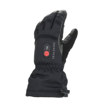 SealSkinz Extreme cold weather verwarmde handschoenen zwart