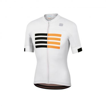 Sportful Wire fietsshirt korte mouwen wit heren