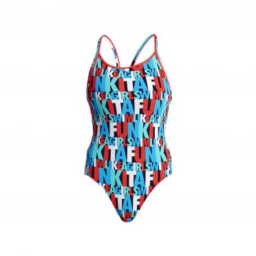 Funkita Swim squad diamond back badpak dames