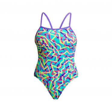 Funkita Mint Strips single strap badpak dames