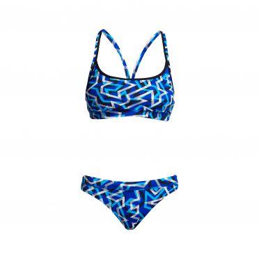 Funkita Ticker Tape Sports bikini set dames