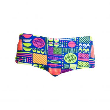 Funky Trunks Packed Lunch Plain Front Trunk zwembroek heren