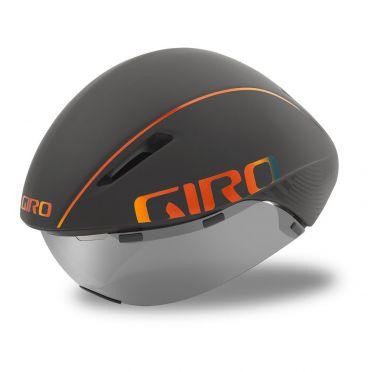 Giro Aerohead mips fietshelm mat grijs / firechrome