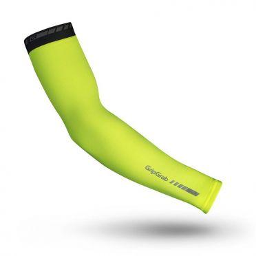 Gripgrab Arm warmers classic hi-vis geel