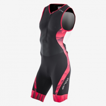 Orca 226 kompress race trisuit mouwloos zwart/rood heren