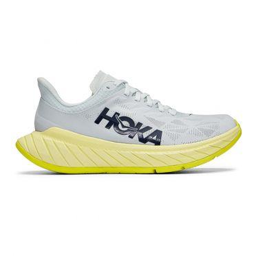 Hoka One One Carbon X 2 hardloopschoenen grijs/geel dames