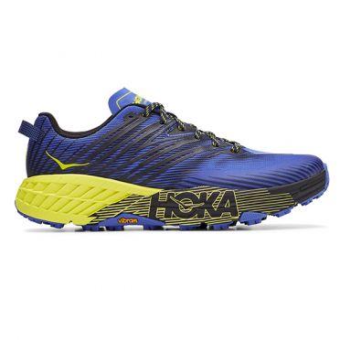 Hoka One One Speedgoat 4 trail hardloopschoenen blauw/geel heren