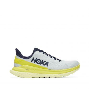 Hoka One One Mach 4 hardloopschoenen grijs/geel dames