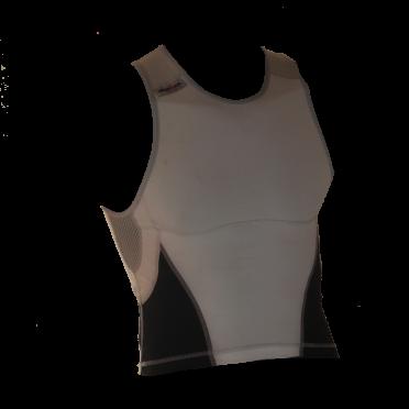 Ironman tri top mouwloos new olympic wit/zwart heren