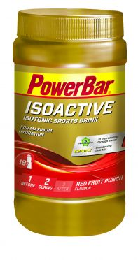 Powerbar Isoactive 600 gram red fruit punch