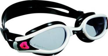 Aqua Sphere Kaiman EXO Lady transparante lens zwembril zwart/wit