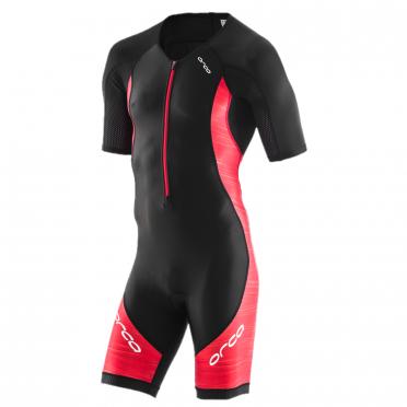 Orca Core race korte mouw trisuit zwart/rood heren