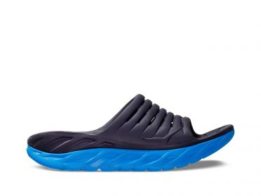 Hoka One One ORA Recovery Slide slippers blue heren