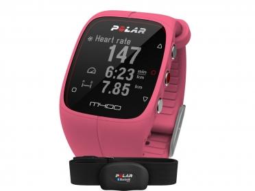 Polar M400 HRM sporthorloge met GPS roze