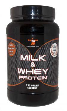 M Double You milk & whey protein kokos 750 gram