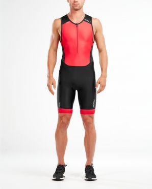 2XU Perform mouwloos trisuit zwart/rood heren