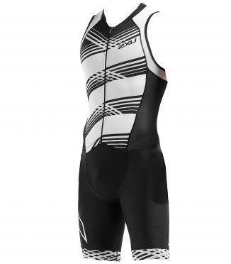 2XU Compression mouwloos trisuit zwart/wit heren