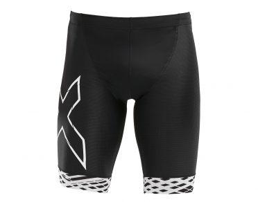 2XU Compression tri shorts zwart/wit heren