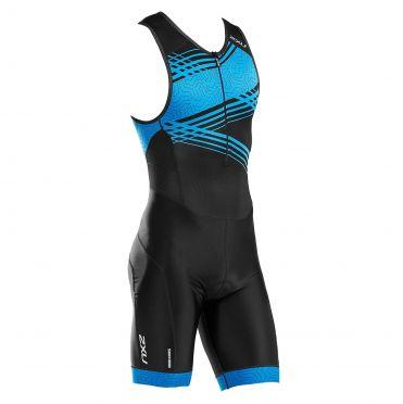 2XU Perform mouwloos trisuit zwart/blauw heren