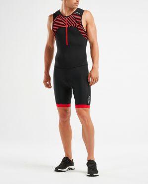 2XU Active mouwloos trisuit zwart/rood heren