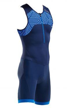 2XU Active mouwloos trisuit blauw heren