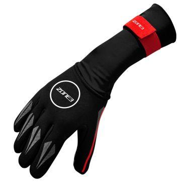 Zone3 Neopreen zwemhandschoenen zwart/rood