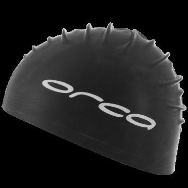 Orca Latex badmuts swim cap zwart
