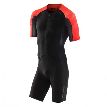 Orca dream kona aero race trisuit korte mouwen zwart/wit heren Kopie
