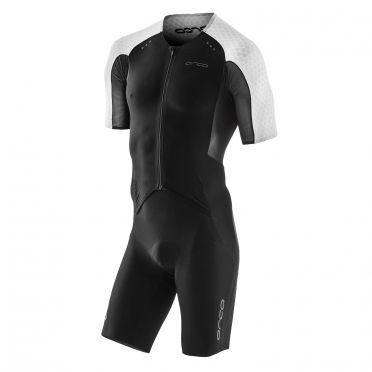 Orca dream kona aero race trisuit korte mouwen zwart/wit heren