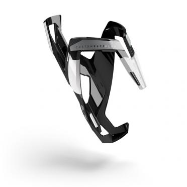 Elite Bidonhouder custom race+ glossy zwart wit