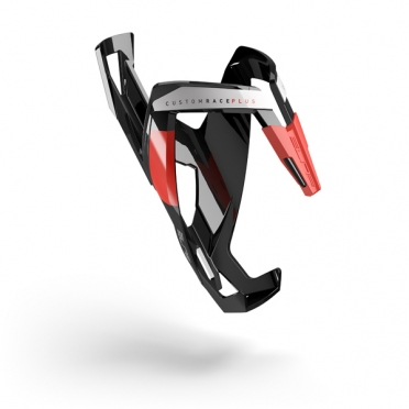 Elite Bidonhouder custom race+ glossy zwart rood