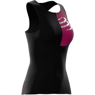 Compressport Postural mouwloos compressie tri top zwart dames