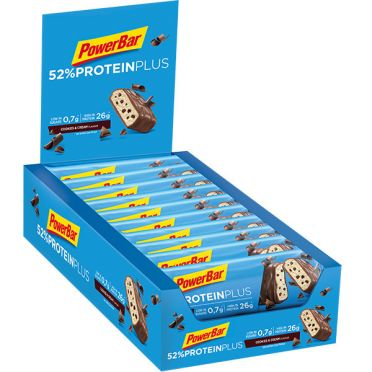 Powerbar Protein plus 52% bar cookies & cream 20 x 50 gram