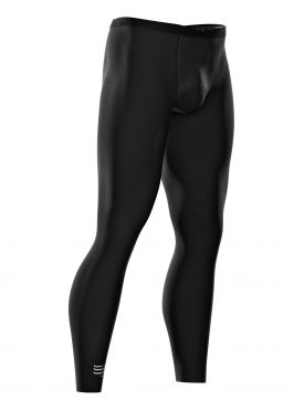 Compressport Under control full tights compressie hardloopbroek zwart unisex